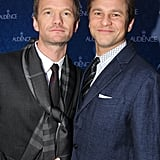 On Sunday, Neil Patrick Harris and David Burtka got adorable at the opening night of The Audience on Broadway in NYC.