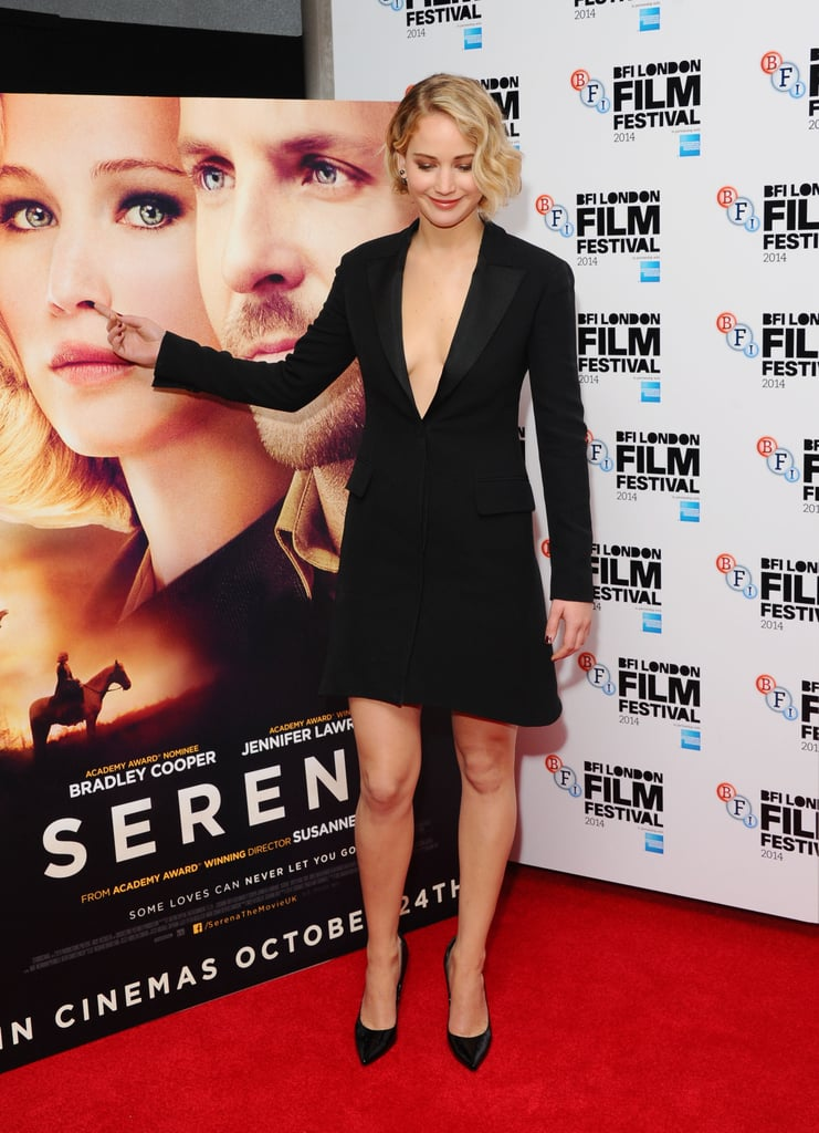 Here's Jennifer Lawrence Picking Her Poster's Nose at the Serena Premiere