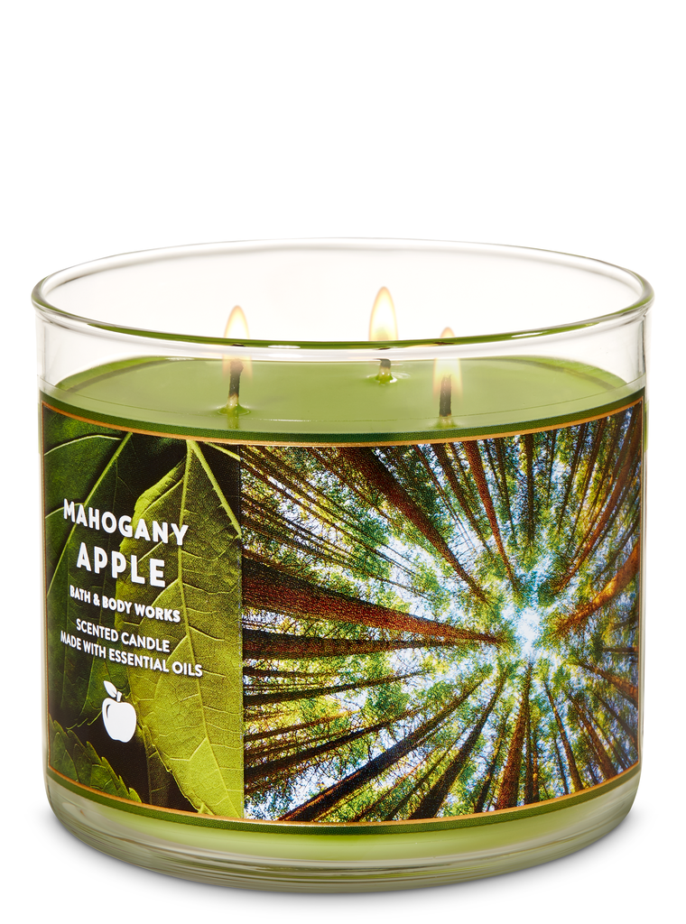 Bath and Body Works Mahogany Apple 3-Wick Candle