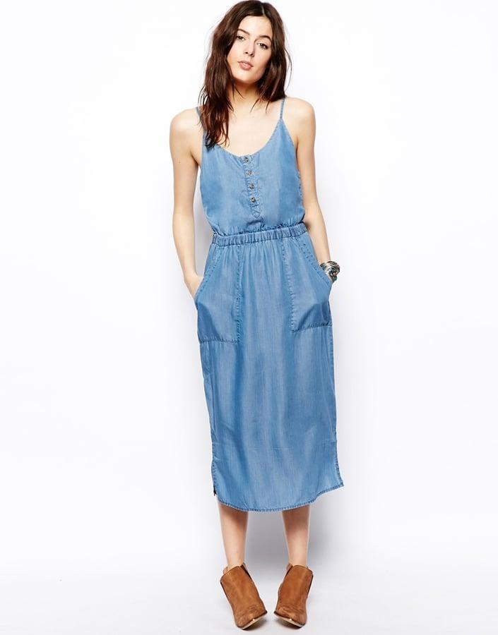 ASOS Denim Midi Dress