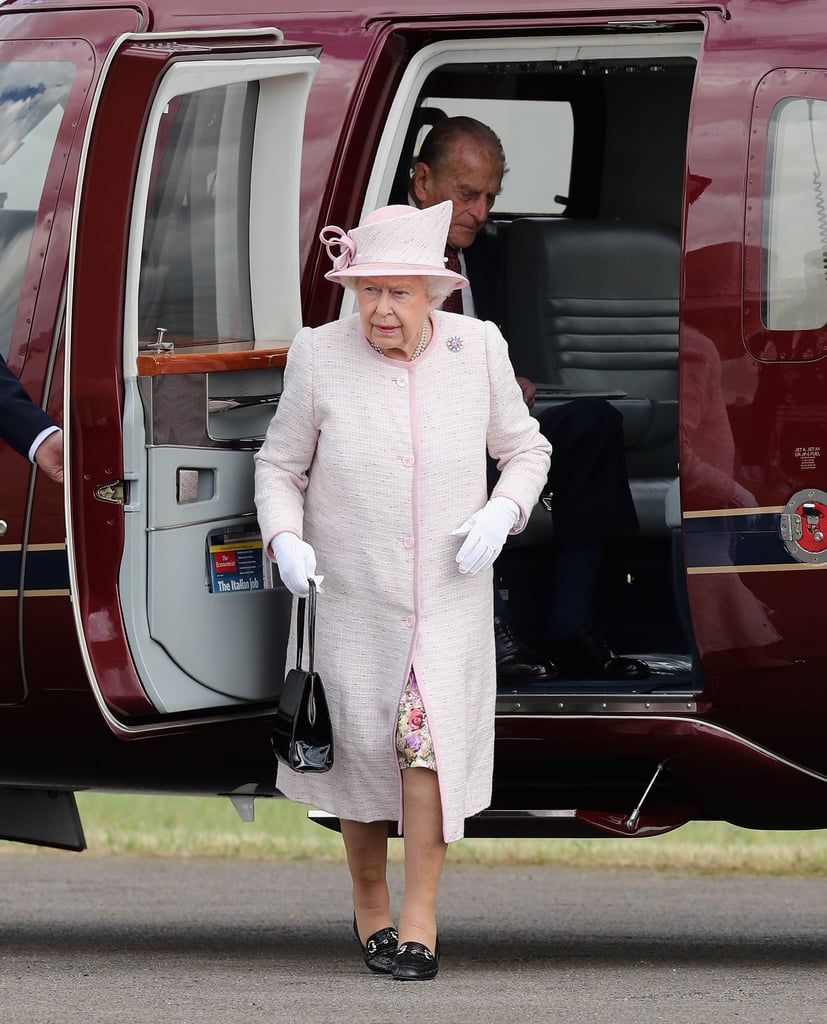 She Arrives to Events by Helicopter