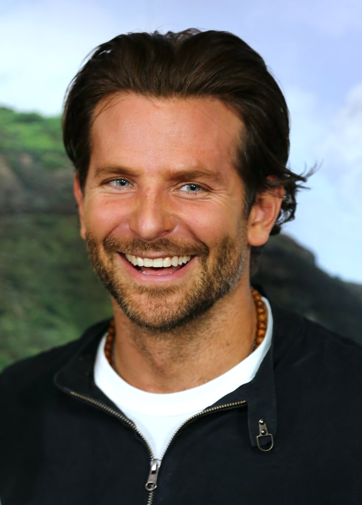 Bradley let out a laugh at the London screening of Aloha in May 2015.
