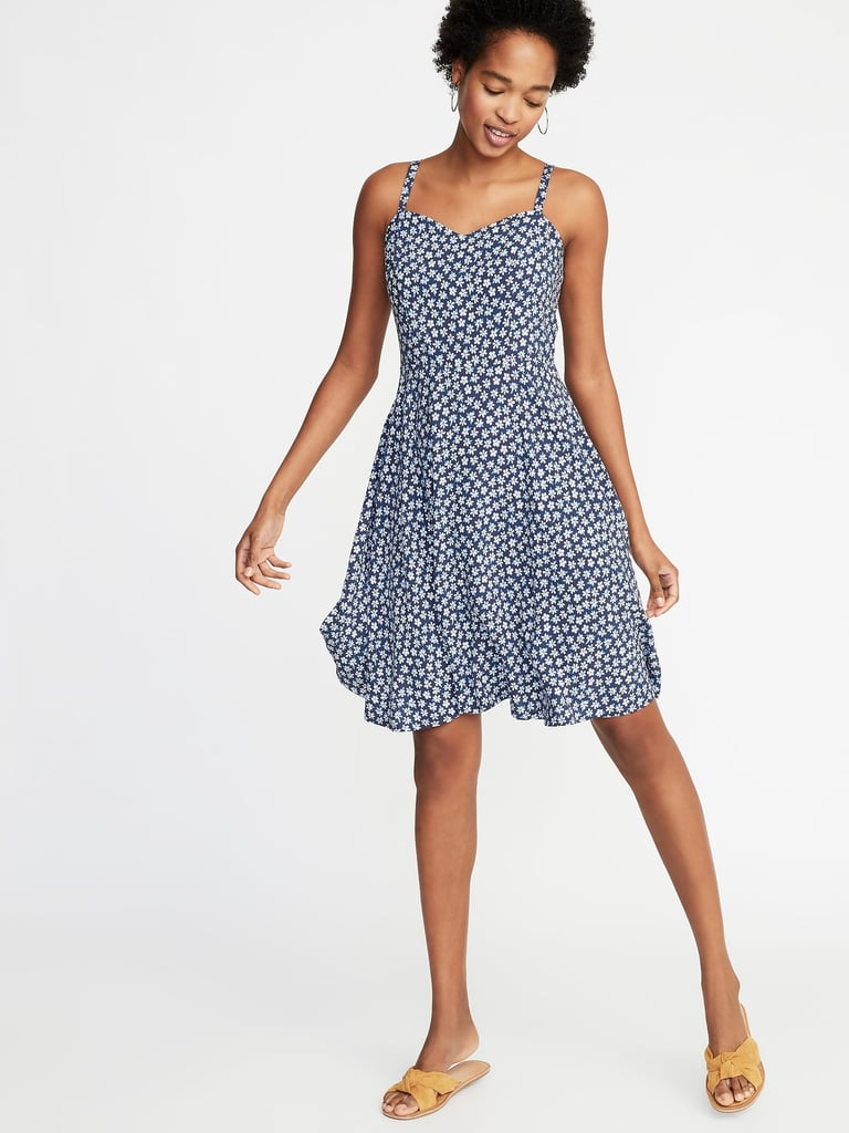 Old Navy Fit Amp Flare Printed Cami Dress Best Old Navy