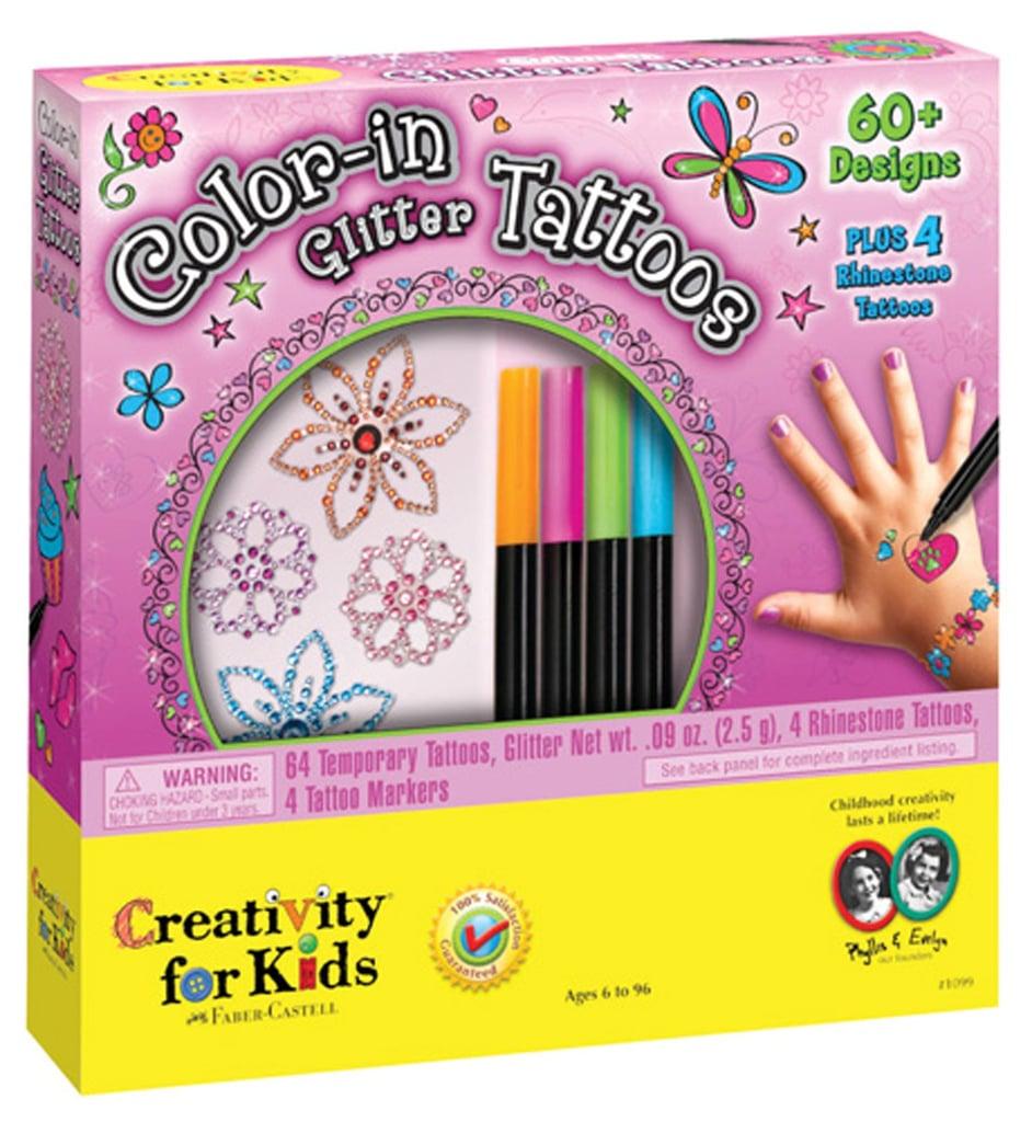 Color-In Glitter Tattoos