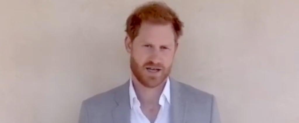 Watch Prince Harry's Speech at the 2020 Diana Awards