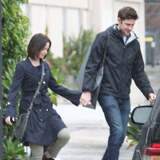 Emily Blunt and John Krasinski Holding Hands Pictures