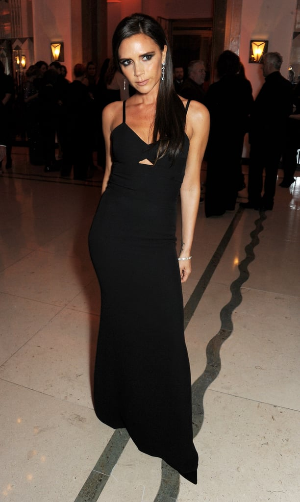 Wearing a Gown That Featured a Midriff Cutout