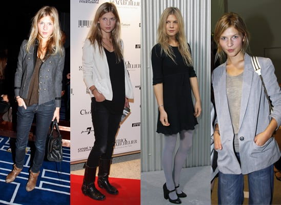 Clemence Poesy at Paris Fashion Week, Spring 2009