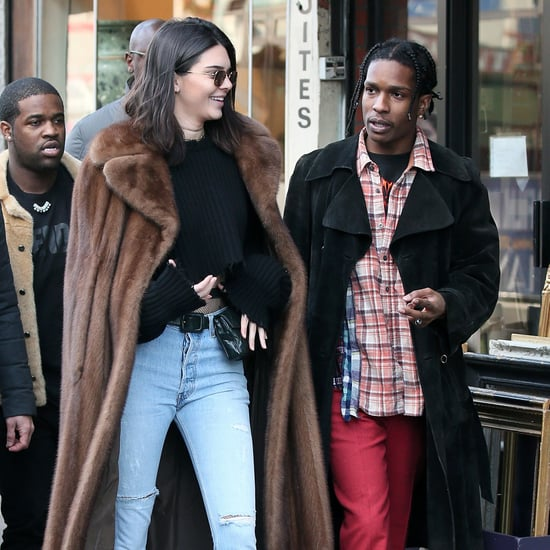 Kendall Jenner and ASAP Rocky Out in Paris January 2017