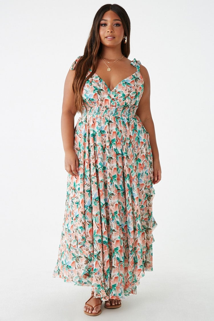 Plus-Size Floral Print Maxi Dress | Affordable Fashion Never Looked ...