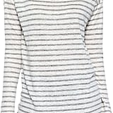 ATM Long-Sleeve Striped Linen Tee, Gray ($165)