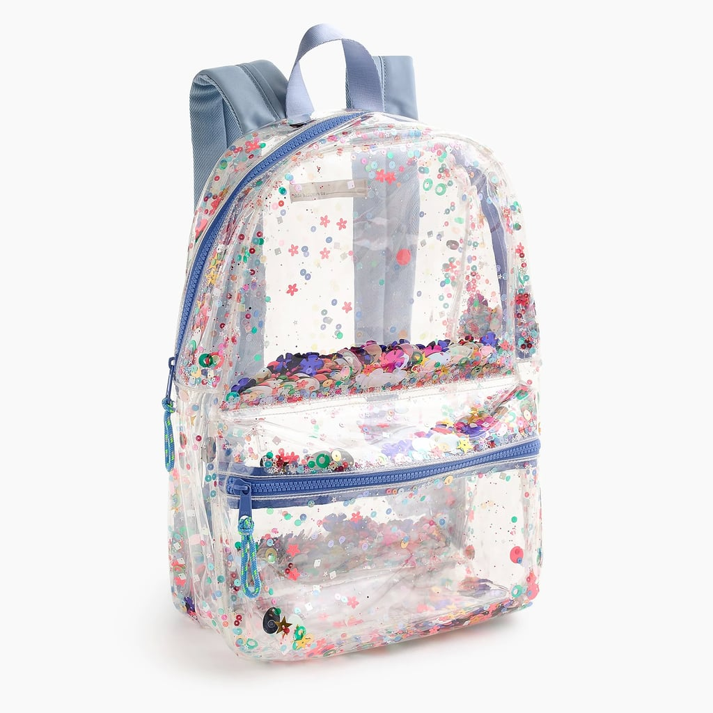 J.Crew Clear Sequin Backpack