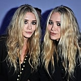 Mary-Kate Olsen and Ashley Olsen were front-row for Kanye West's show.