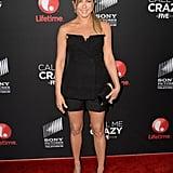 Jennifer Aniston in Dior Tuxedo Bustier