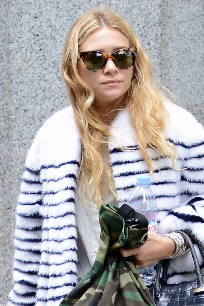 Ashley Olsen had a bottle of water with her in NYC.