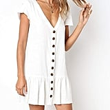 Freshlook V-Neck Button-Down Shirt Dress