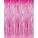 Metallic Fringe Curtains Hot Pink Streamer