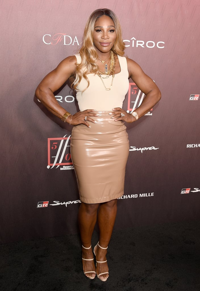 Serena Williams' Vinyl Skirt at the Sports Illustrated Party