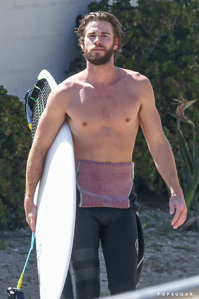 When it comes to hot Aussies, Liam Hemsworth is one of the sexiest around — especially when he's shirtless. Not only has the actor bared his chest for movies such as The Last Song, but he's also given us a sneak peek at his glorious abs during his casual surf outings, and for that we're eternally grateful. Let's just say we all wish we were Miley Cyrus. Take a moment to appreciate all the times this hunk has shown off his incredible physique.      Related:                                                                                                           7 Times Miley Cyrus and Liam Hemsworth's Quotes About Each Other Hit You Like a Wrecking Ball