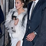 Jennifer Lopez White Elie Saab Dress at Second Act Afterparty