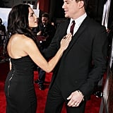 Jenna Dewan shared a sweet moment with Channing Tatum at the February 2010 LA premiere of Dear John.