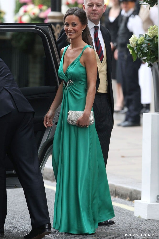 The dress that first cemented her status as a wedding attendant star: the green Temperley London pick she sported for sister Kate's 2011 reception.