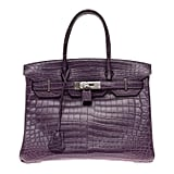 Very Rare Hermès Birkin 30 handbag in Croco Nilo Améthyste
