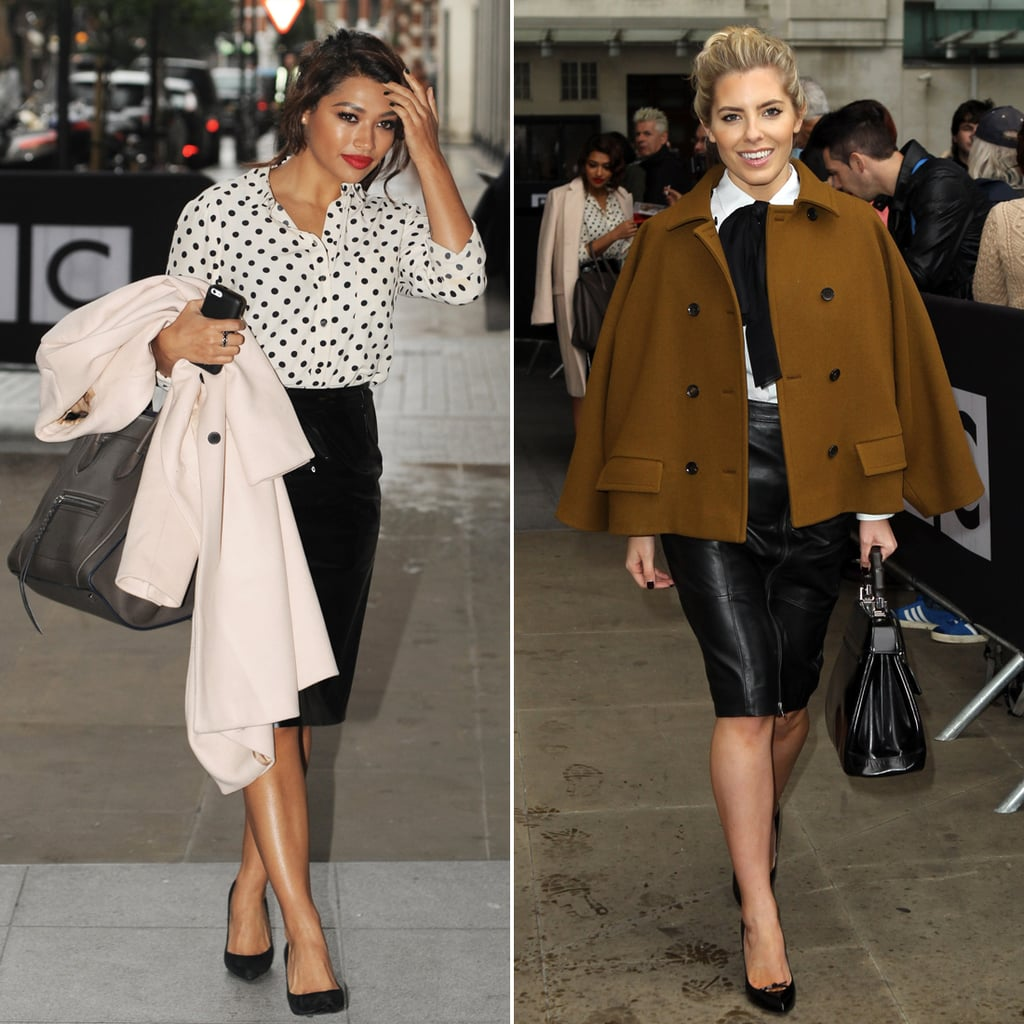 Mollie King and Vanessa White Get the Look Pencil Skirts