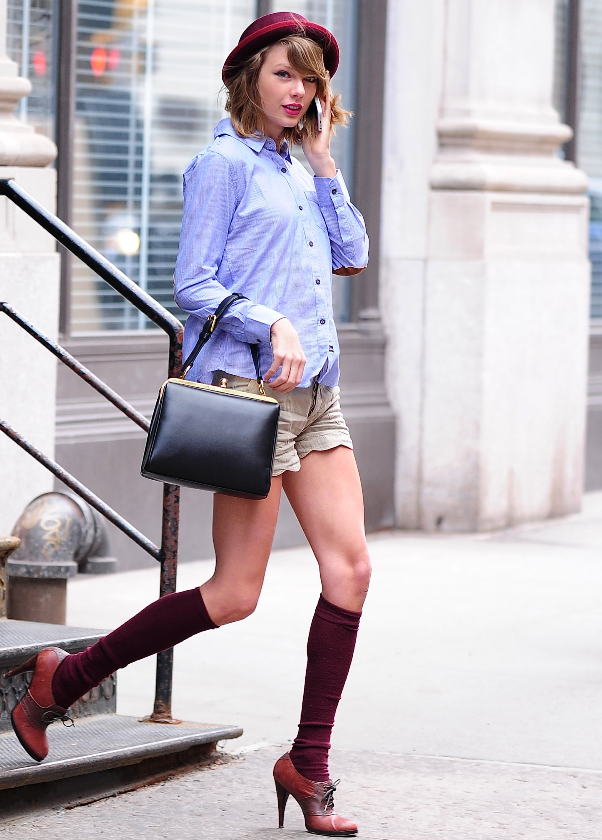 Matchy Matchy A Guide To Wearing Thigh High Socks As Demonstrated By Taylor Swift Popsugar