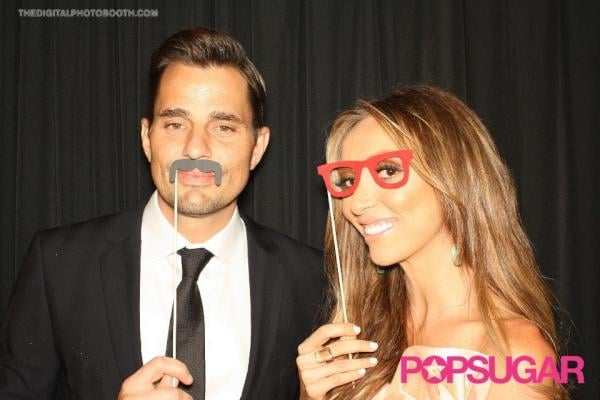Bill and Giuliana Rancic got playful in our PopSugar photo booth backstage at the Do Something Awards.  Source: Twitter user BillRancic