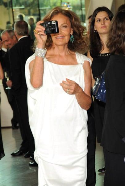 Diane von Furstenberg in her own design