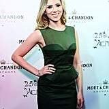 Scarlett Johansson attended a party in honor of Moët & Chandon's anniversary in Moscow.
