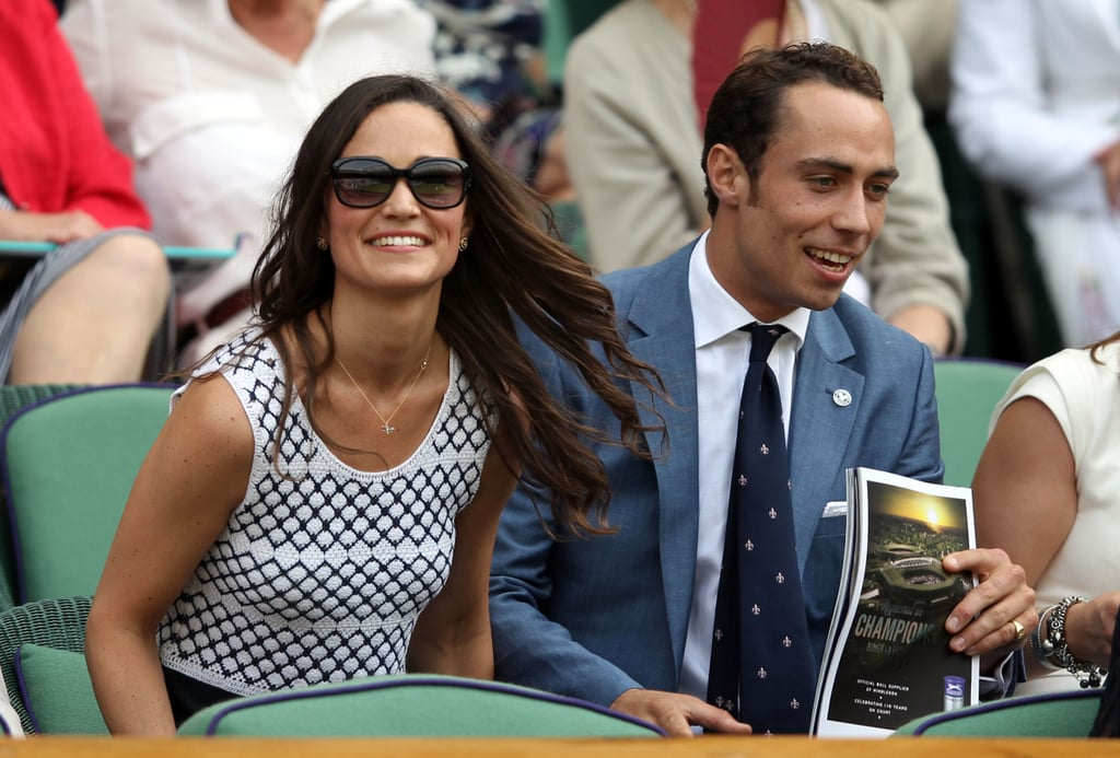 Pippa and her brother took in the Wimbledon Lawn tennis Championships in June this year.