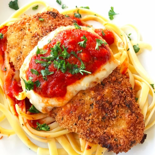 Easy chicken parmesan recipe popsugar food chicken parmesan forumfinder Choice Image