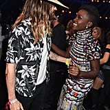 Jared Leto and Lupita Nyong'o chatted during a commercial break.