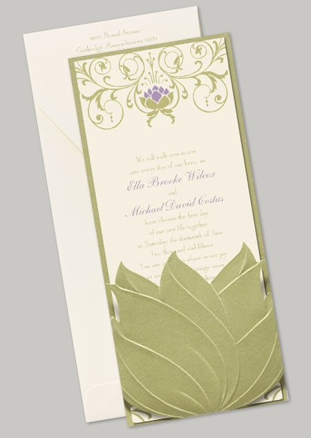 """The Tiana """"Water Lily"""" stationery features a pretty water lily design inspired by the film's setting."""