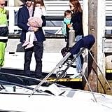 Isla Fisher, Sacha Baron Cohen, Elula Cohen, and Olive Cohen enjoyed a boat ride in Australia.