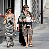 Rachel Zoe shopped with her family.