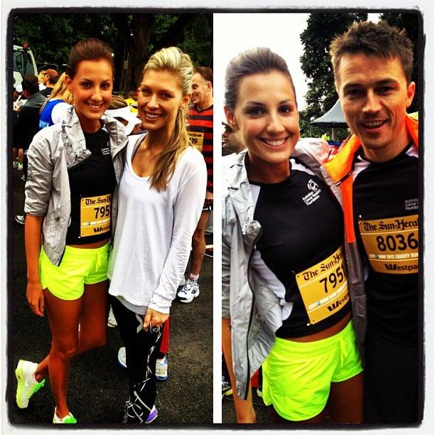 Laura Dundovic ran in the City 2 Surf with her mum, friend and boyfriend, James Kerley. Source: Instagram user lauradundovic