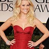 Reese Witherspoon in Zac Posen at the Golden Globe Awards.