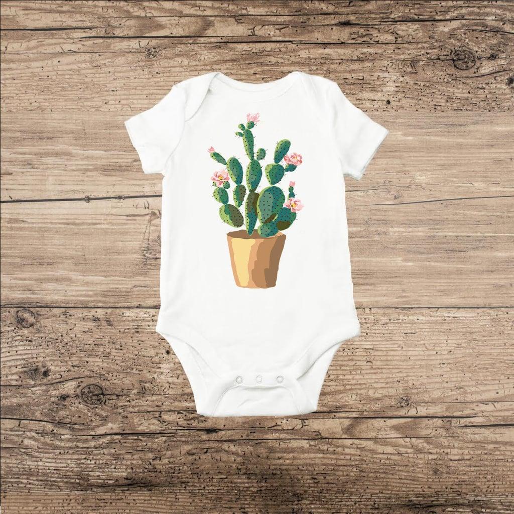 Potted Cactus Onesie