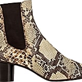 Isabel Marant Python-Stamped Danae Boots — Brown ($915)