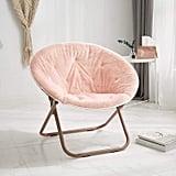 Urban Shop Faux Fur Saucer Chair