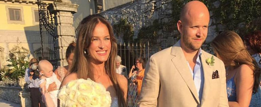 Daniel Ek Invented Spotify, but His Bride Just Brought Back the Asymmetrical Wedding Dress