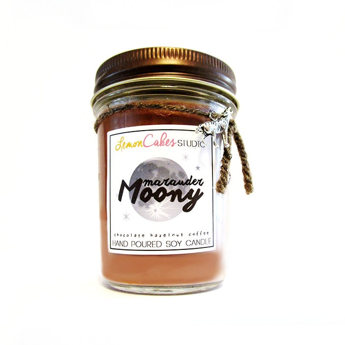 Marauder Moony candle ($12) with chocolate, hazelnut, and coffee notes