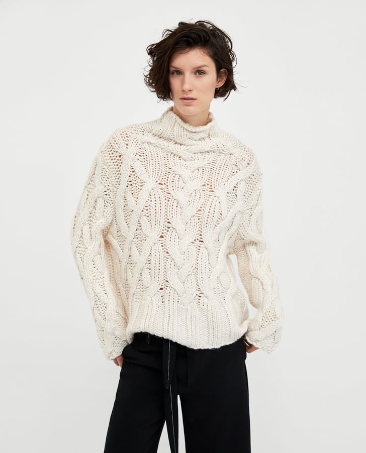 Zara Oversize Cable Knit Sweater