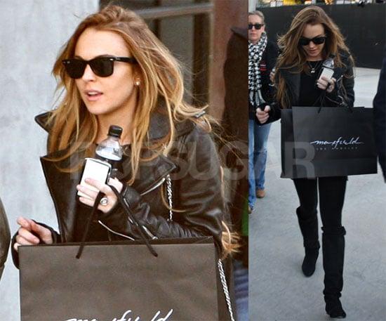 Photos of Lindsay Lohan Shopping at Maxfield's
