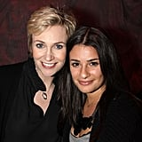 Lea and Jane Lynch checked out the Broadway show Love, Loss, and What I Wore in November 2009.