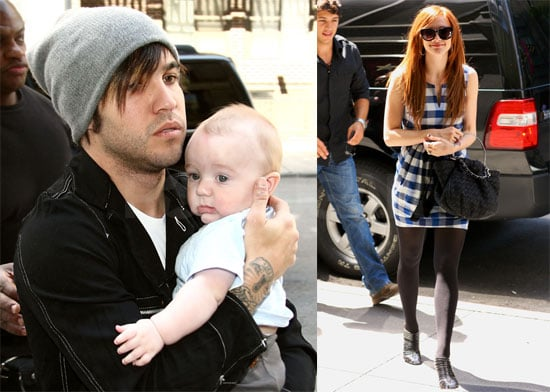 Photos of Ashlee Simpson Covering Her Stomach in NYC, Bronx and Pete Wentz in NYC