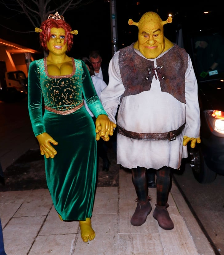 Heidi Klum and Tom Kaulitz as Princess Fiona and Shrek